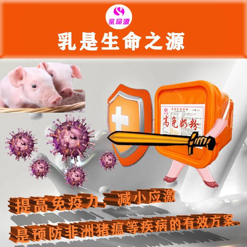 给断奶小猪补充营养减少应激改善肠道功能应选用乳命源高免奶粉